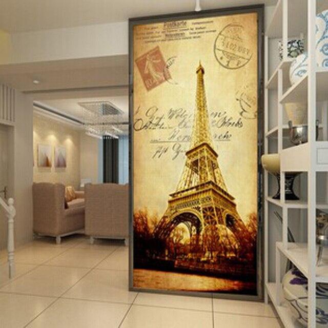 Eiffel Tower Decorative Painting Modern Home Wall Decor Canvas Art Hd Print Painting Murals Vertical Corridor