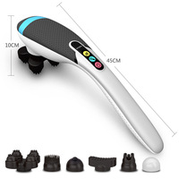 Electric Rechargeable Neck Massager multifunction wireless back massage hammer infrared shoulder massage wire or rechargeable