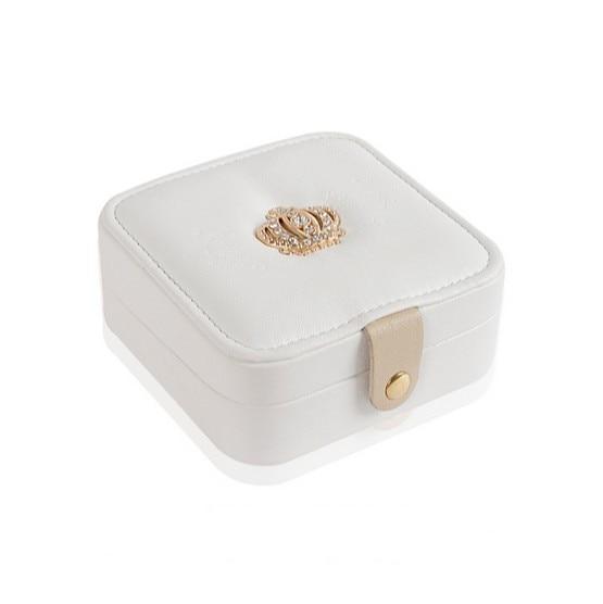 Шкатулка для украшений, серьги кольцо коробка для хранения организаторы, портативный кожаная шкатулка подарок на день рождения флажок Бесп...