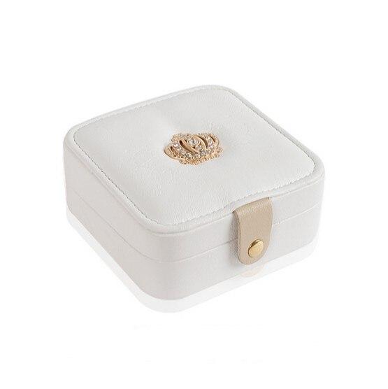 Jewelry box, earrings ring storage box Organizers , portable leather jewelry box birthday gift box Free shipping