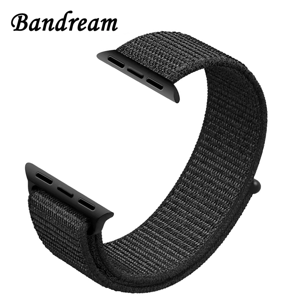 Genuine Nylon Loop Watchband for iWatch Apple Watch 38mm 42mm Series 3 2 1 Sports Band Fabric-Like Strap Colorful Wrist Bracelet mu sen woven nylon band strap for apple watch band 42mm 38 mm sport fabric nylon bracelet watchband for iwatch 3 2 1 black