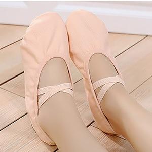 Image 4 - USHINE New professional full rubber band shoelace body shaping training Yoga slippers socks ballet dance shoes kids girls woman