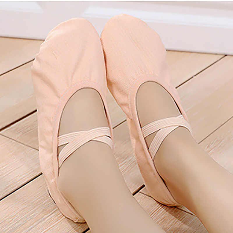 USHINE חדש מקצועי מלא גומייה שרוך גוף בעיצוב אימון נעלי יוגה נעלי בלט נעלי ריקוד ילדים בנות אישה