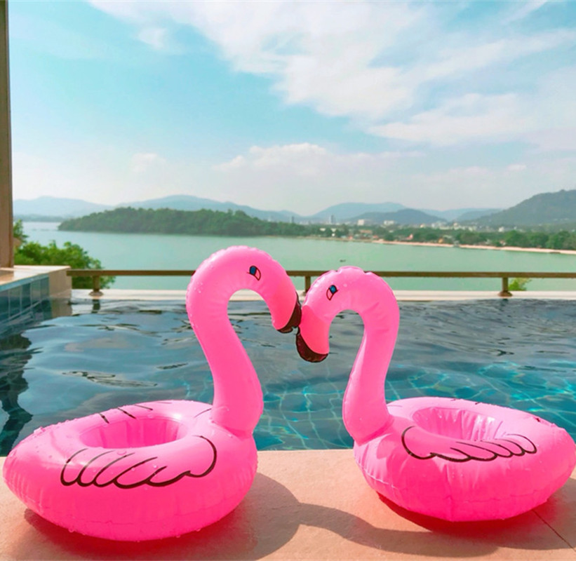 Pool flamingo float inflatable swimming pink raft toy water drink cup holder toy 672875501250 ebay How to make swimming pool water drinkable