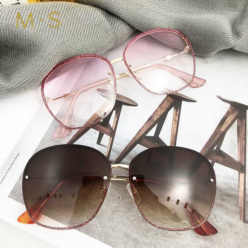 2018 Fashion Sunglasses Women Luxury Brand Designer Oversize Sun glasses Female Square sunglass For Women Girl Eyewear J79