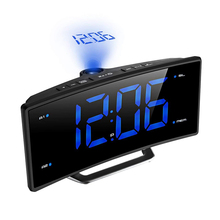 Mirror FM Radio Alarm Clock LED Digital Electronic Table Projector Clock Desk Nixie Projection Alarm Clock With Time Projection