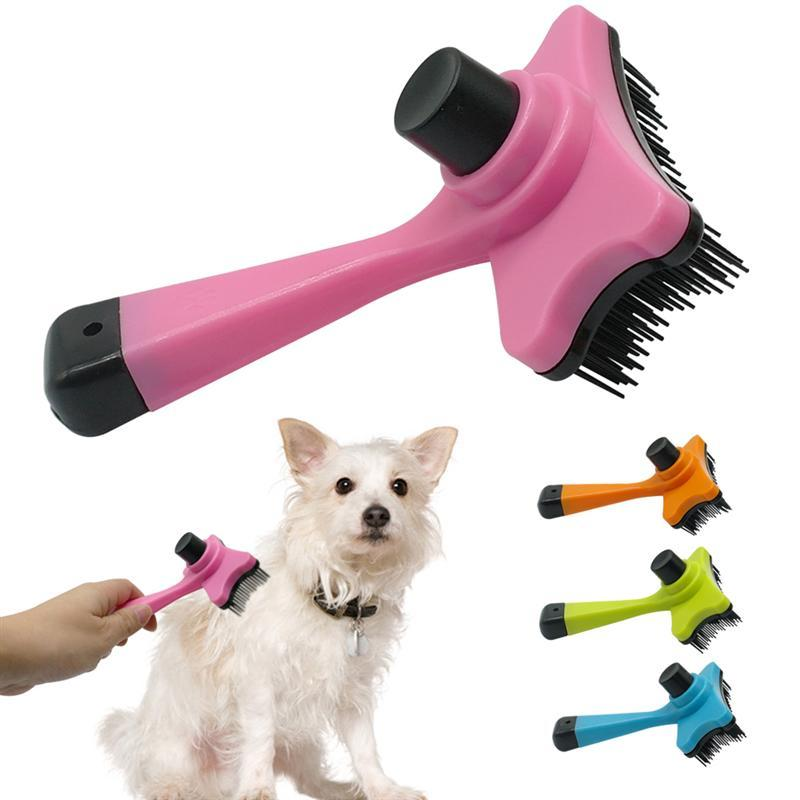 Self Clean Dog Brush Puppy Hair Fur Grooming Shedding Comb Tool For Long Short Hair Dogs And Cats 4 Colors Avaliable Shedding Comb Dog Brushgrooming Fur Aliexpress
