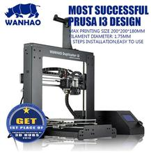 Wanhao Duplicator V 2.1- новая версия 3Д принтер 2017 | Высокая Точность Качество лучше Reprap Prusa i3 DIY | Возможна поставка со склада в России (спрашивайте продавца). Возможно безналичный расчет для организаций.