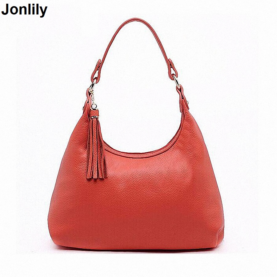 Handbags Women Shoulder Bag First Layer Cowhide Genuine Leather Bag Women Leather Handbags Bag Ladies Hobos LI-738 цена