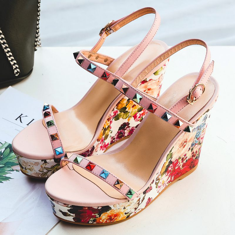 50570f9aafa Krazing-Pot-full-grain-leather-platform-sandals-runway-super-high-heel -increased-floral-patterns-colorful-rivet.jpg