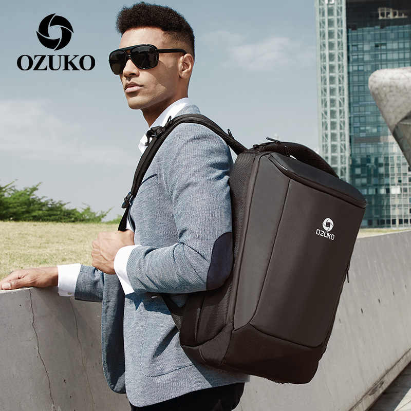"OZUKO 17"" Laptop Backpack Men Waterproof Large Capacity Multifunction Backpacks Male USB Business Back Pack Travel Bag Mochila"