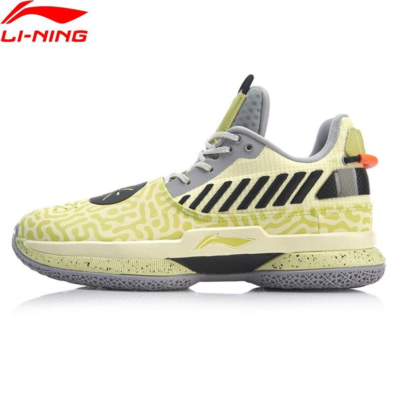 Li-Ning Men WOW 7 Mustard Wade Basketball Shoes Wow7 CUSHION LiNing CLOUD Wayofwade 7 Sport Shoes Sneakers ABAN079 XYL212
