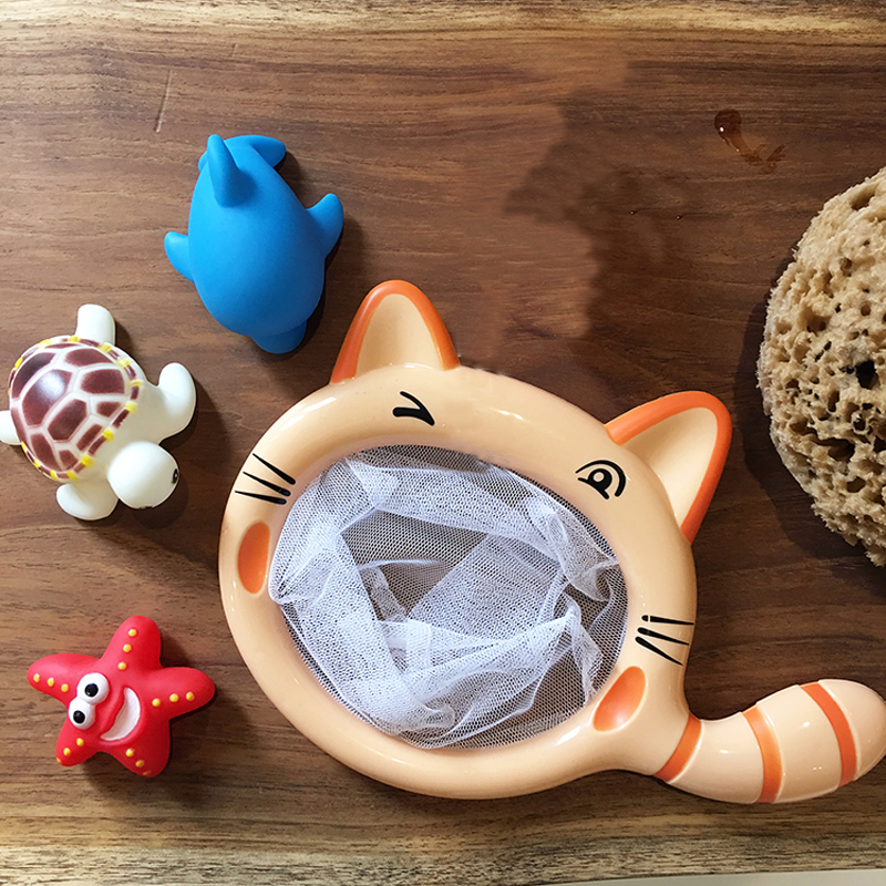 1Pc Animals Cats Fishing Net Kids Baby Bath Toys Swimming Shower ...