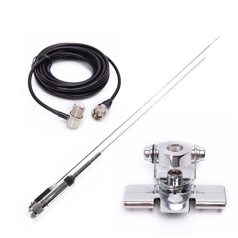 Nagoya NL-770R Dual Band Antenna + RB-400 Antenna Mount + 5M Coaxial Cable for Mobile Radio Walkie Talkie Baofeng TYT Motorola