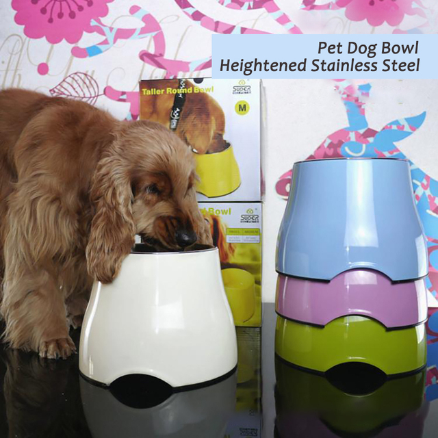 Cat Pet Dog Bowl Stainless Steel Product Dogs Bowl Food Water Feeder Anti Skid Smooth Surface Gamelle  Dog Drink Bowls 50A0542