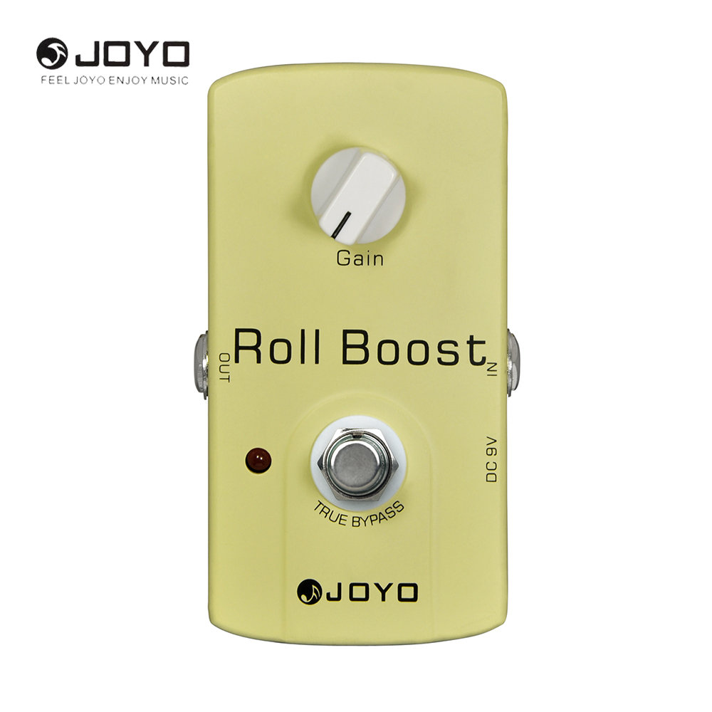 JOYO JF-38 Roll Boost Electric Guitar Effect Pedal True Bypass Guitar Part& Musical Instrument aroma adr 3 dumbler amp simulator guitar effect pedal mini single pedals with true bypass aluminium alloy guitar accessories
