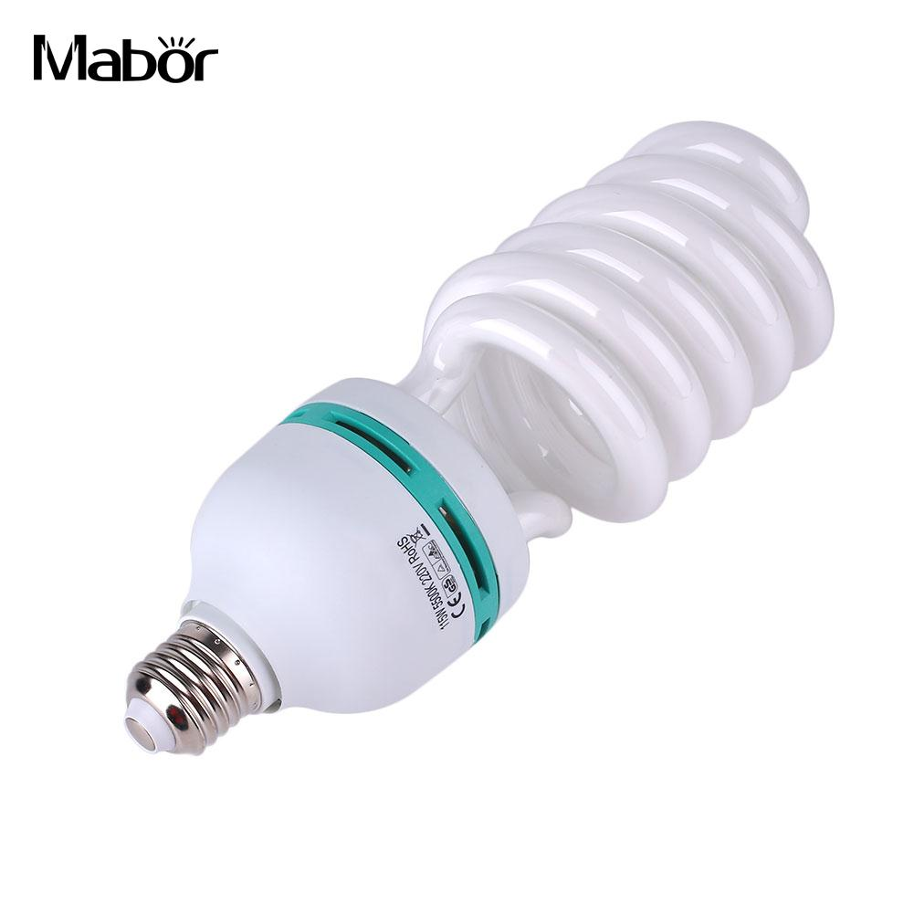E27 Lamp Bulb Professional Fluorescent Daylight Lamp High Brightness Lighting Fixture Photography Light