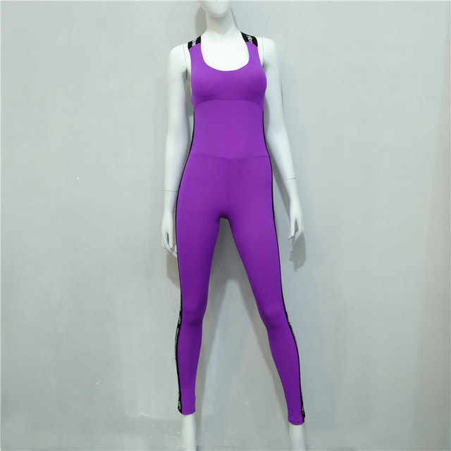 Weekeep  Fitness Set One Piece Jumpsuit fashion designer 2016 backless Slim Rompers Sexy Women leggings Jumpsuits and Bodysuits