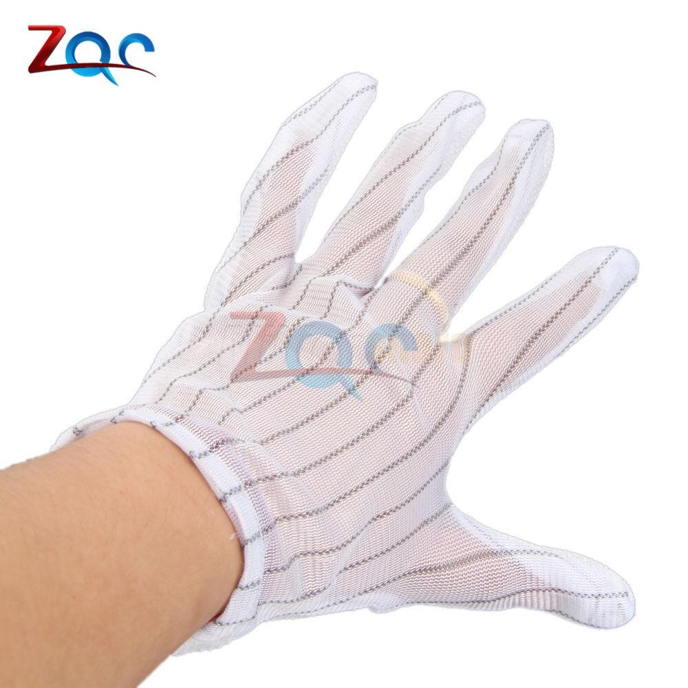 10 Pairs Antistatic Glove Upset Some Plastic Polyester Antistatic Gloves Non-slip Wear-resisting Big Yards Anti Static Gloves