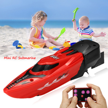 Mini Micro Radio Infrared Remote Control RC Submarine Ship Boat With LED Light Toy Gift 2 Mode Novel Appearance Use in Fish Tank