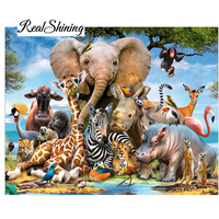 Needlework Diy Diamond Painting Kit 5D Diamond Embroidery Elephant Forest Full Rhinestone Cross Stitch Diamond Painting