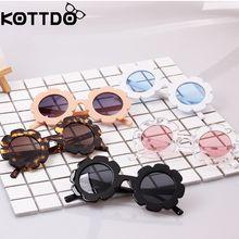 57c023e350a0a Flor do sol Óculos de Sol óculos de Sol Dos Miúdos Do Bebê Crianças Óculos  De Sol UV400 Meninos Meninas Óculos de sol Oculos de .