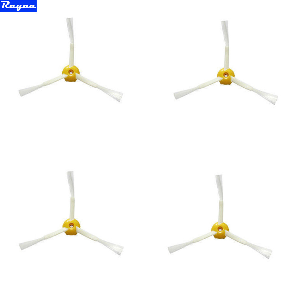 4 pcs/lots Plastic Side Brush 3-armed for iRobot Roomba 500 600 700 Series 550 560 630 650 780 New Factory Wholesale Free Post free post new 3 pieces 6 arms sidebrush for irobot roomba 500 600 700 series side brush 550 560 570 630 650 760 770