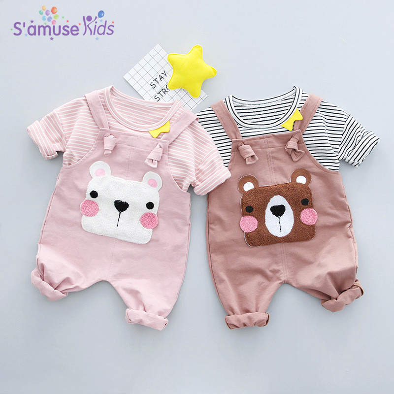Newborn Baby Girl Clothes Sets Spring 2018 Cotton Kids Boys Girls Clothing Cartoon Bear Baby Sets Long Sleeve Boys Clothing ...
