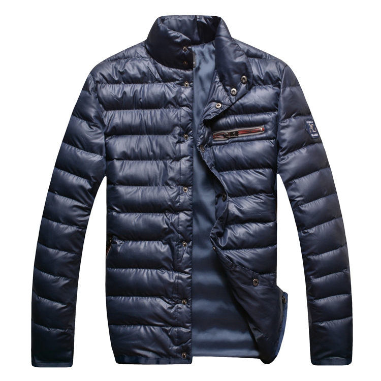 Angelo galasso wadded jacket cotton-padded jacket men's 2015 new fashionable casual comfortable outerwear Straight Free shipping