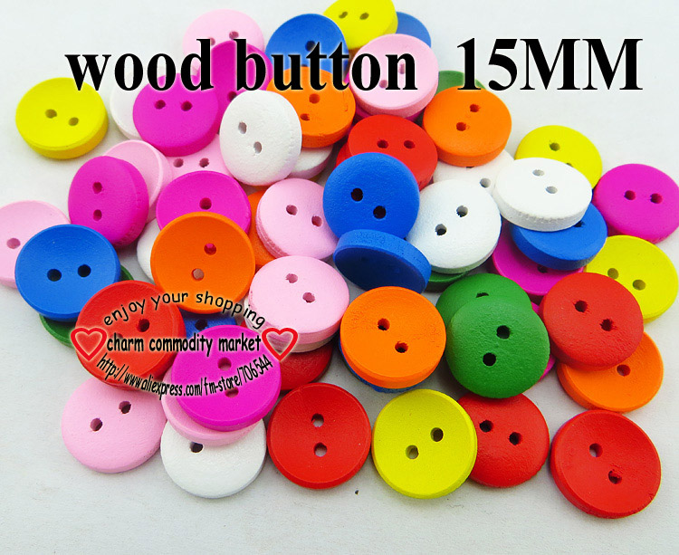 50PCS GILRS painting wooden buttons 15MM sewing clothes boots coat accessory transport car button MCB 971 in Buttons from Home Garden