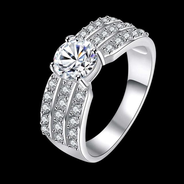 Fantastic Russian Stylish Full CZ With 925 Sterling Silver Woman