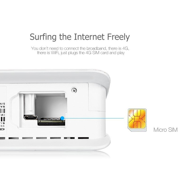Routeur Wifi 4G LTE CPE FDD TDD haut débit déverrouiller la passerelle sans fil Dongle sans fil avec Port LAN Cat6 300 Mbps - 4