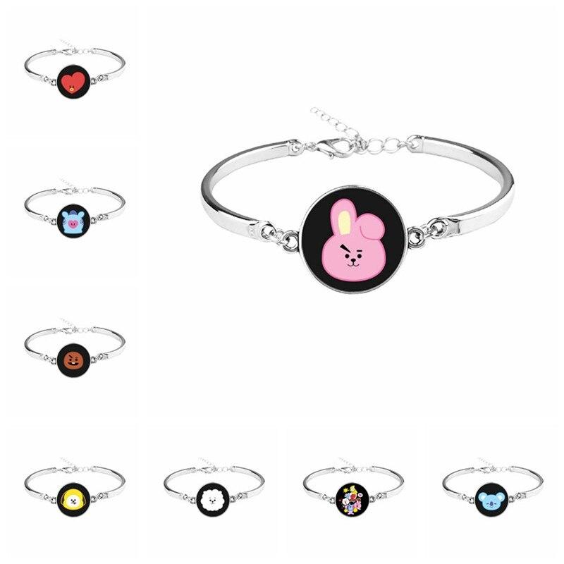 Zhimin Bracelet Korean Concise Tide Student Necklace Woman Clavicle Chain Kpop Bts Bt21 Accessories Letter Bracelet Necklace Goods Of Every Description Are Available Toys & Hobbies