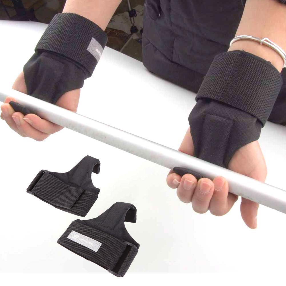 1 Pair Weight Lifting Hand Bar Grips Straps Wrist Support: 2Pcs Adjustable Fitness Wrist Support Weight Lifting Gym