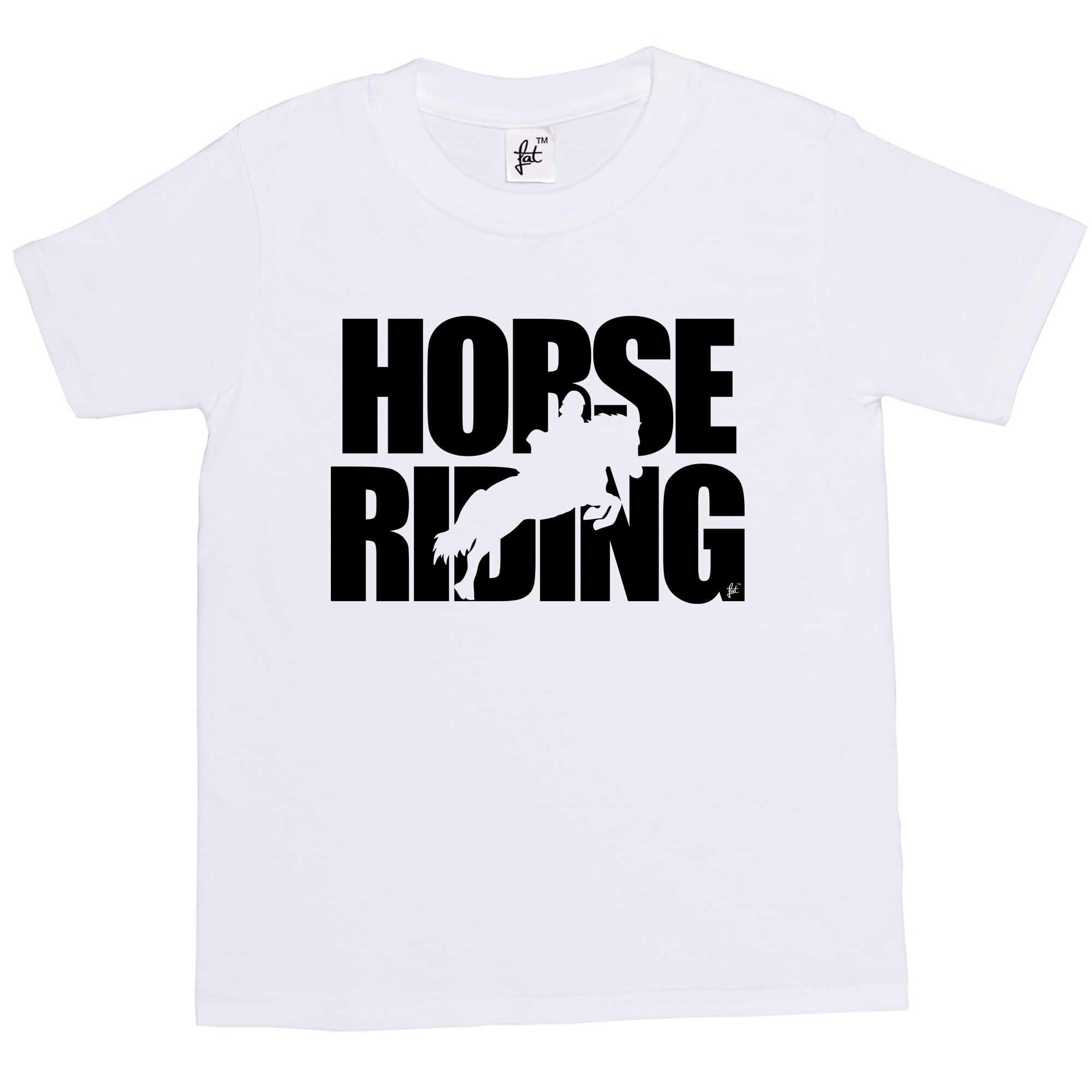 Womens T -Shirt Horse Riding - Horse Jumping Silhouette Kids / Girls T-Shirt