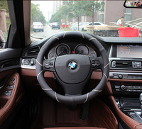 38cm Genuine Leather Steering Wheel Cover For Bmw X3 X1 E60 E90 Volkswagen Beetle Vw Polo