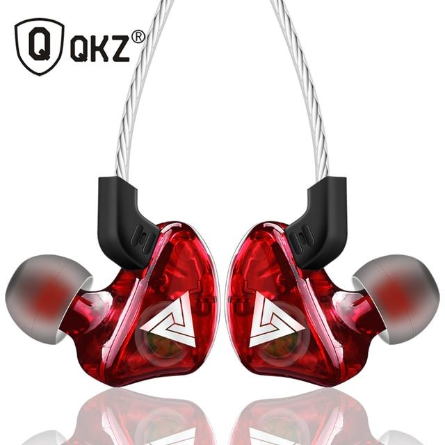 Qkz ck5 이어폰 스포츠 이어 버드 스테레오 모바일 핸드폰 용 헤드셋 dj hd 마이크 장착 fone de ouvido auriculares audifonos