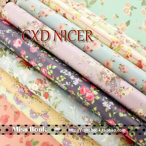 Christmas Vintage Flower Decorative Wrapping Paper Book Wholesale A4 24sheet/bag handmade paper Mixed color paper J26 little prince vintage wrapping paper book alice in wonderland gift wrapping papers for scrapbooking cardmaking