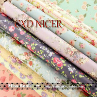 Vintage Flower Decorative Wrapping Paper Book Wholesale A4 24sheet Bag Handmade Paper Mixed Color Paper