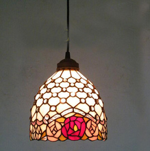 8 corridor Balcony coffe room Pendant Lights Countryside style Handmade Multicolored Glass Tiffany LAMP ceiling