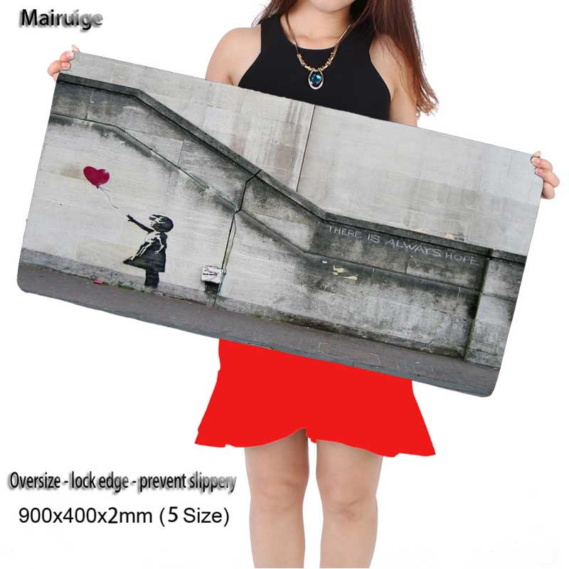 Mairuige Shop Free Shipping Locking Edge Large Gaming Anime Mouse Pad Pad for PC Computer Laptop Notbook for League of Legends