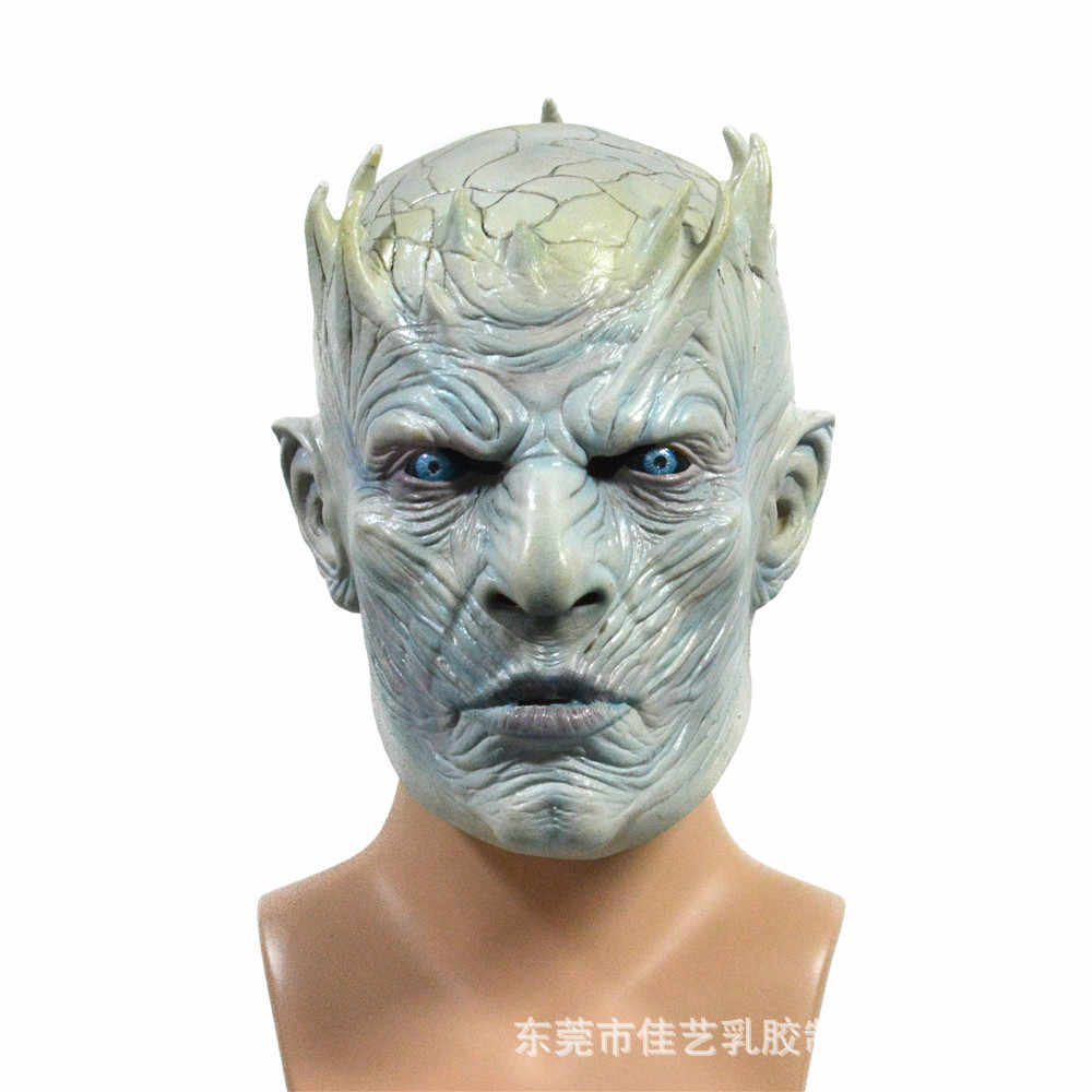 Realistic Latex The Game of Thrones Night King Masks Halloween Cosplay Party Mask Adult Full Face Zombie Ball Costume Mask Props