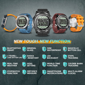 Image 2 - Zeblaze VIBE 3S Rugged Outdoor Smartwatch Real time Weather Steps Calorie Distance Tracking 5 ATM/50M/164ft Water Resistant