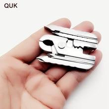 QUK Tang 15 in 1 multifunctionele Vouw Multi Combinatie Reparatie Tool Schroevendraaier Sleutel Jaw Mes Mini Draagbare Sleutelhanger wandelen