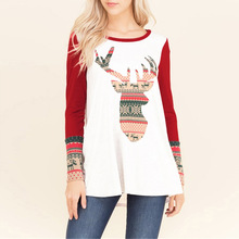 merry christmas women t-shirts deer tee plus size top woman love female long sleeve tshirt t tops love tee shirt punk цена и фото