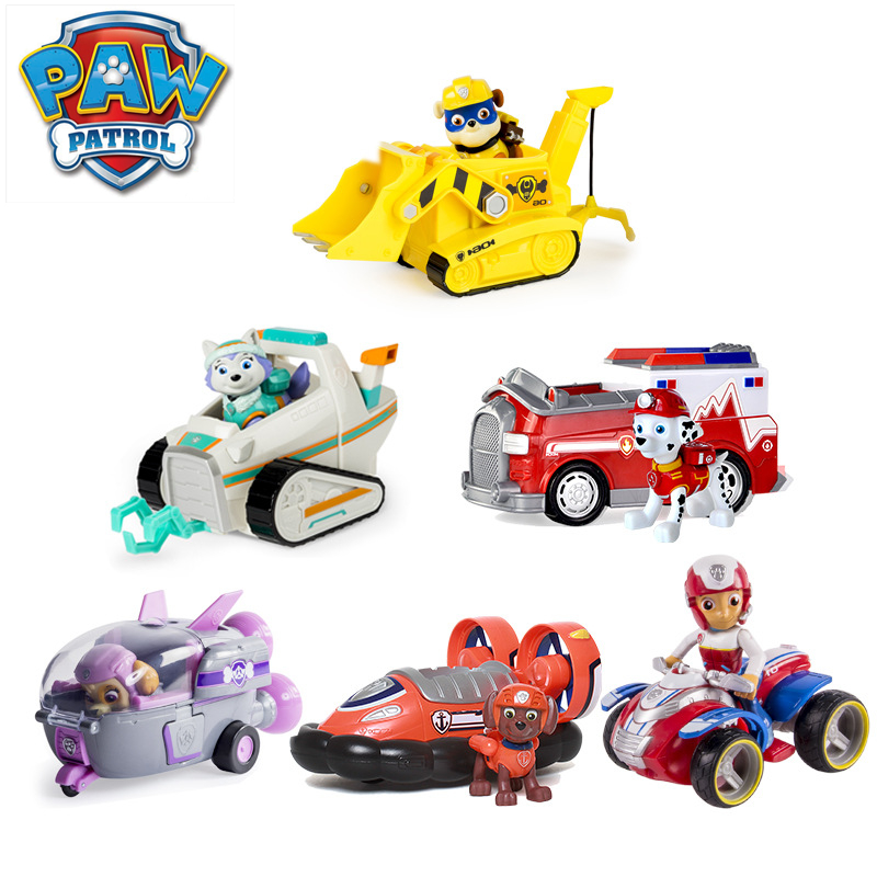 Genuine Paw Patrol Dog Toy Puppy Car Rescue Music Cartoon Character everest paw patrol patrulla canina toy kid gift