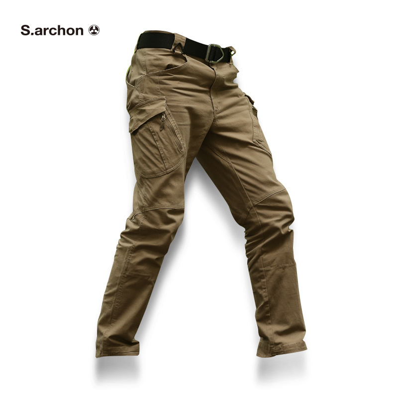 X9 tactical men's pants Cargo casual Pants Combat SWAT Army active Military work Cotton male Trousers mens