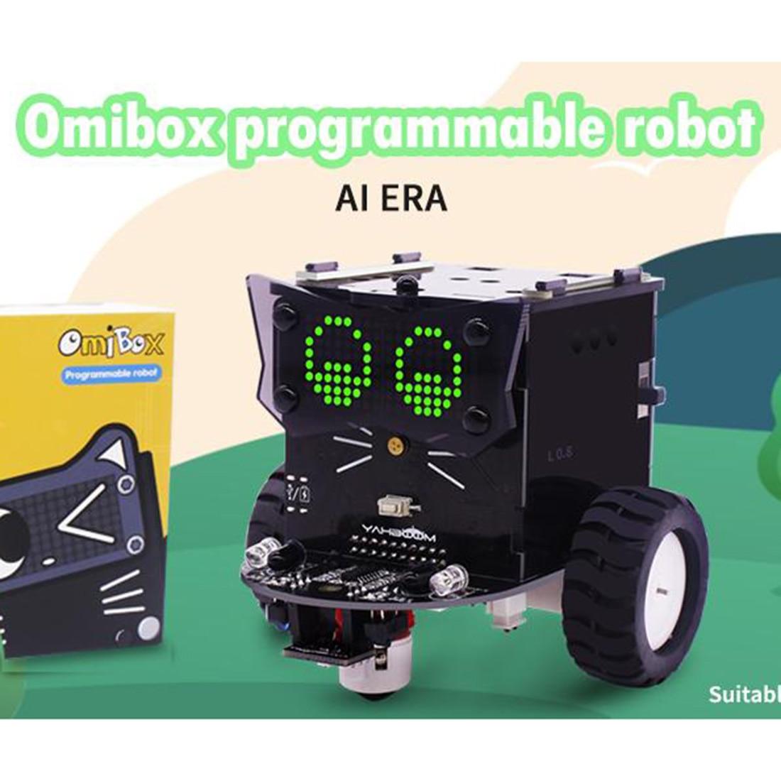 Standard Version Omibox Scratch Programmable Robot Car Kit Intelligence Programmable Toy For Kids Boys Student Gift 2019