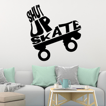 Lovely Skateboard Removable Pvc Wall Stickers For Kids Rooms Nursery Room Decor Mural Vinyl