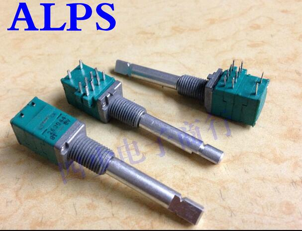 [VK] ALPS 09 precision potentiometer has a rotating switch 50KX2 shaft long 35MM туфли на высоком каблуке mid high heels shoes 2015 heles sapato feminino ladies mid high pumps